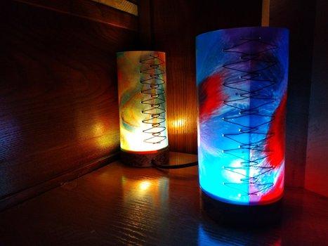 Lámpadas de deseño feitas a man