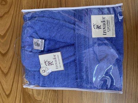 Albornoz de algodón azul