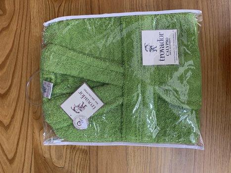 Albornoz de algodón en verde
