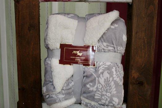 Manta de sofá con borreguillo