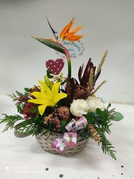 Centro regalo flores naturales