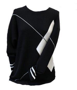 Jersey punto blanco y negro