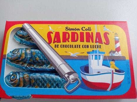 Sardinas de chocolate