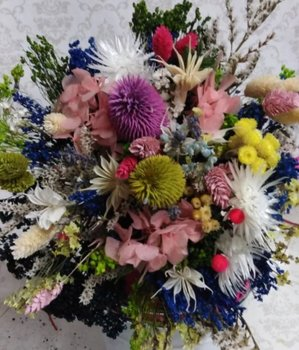 Ramo flor seca y preservada