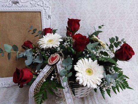 Cestas de flor natural