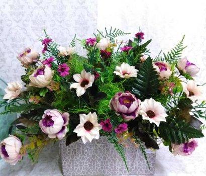 Centro flor arificial