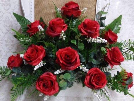 Centro artificial de rosas