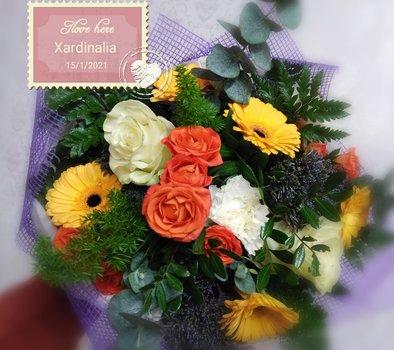 Centro flores naturales