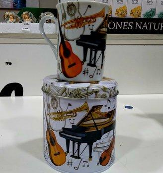 Bote y taza colección musical