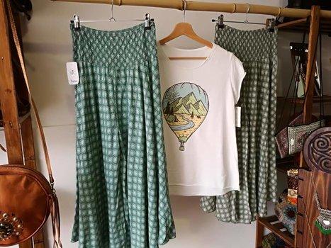 Faldas de la India y camiseta algodón