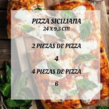 Pizza siciliana casera