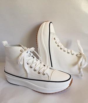 Sneakers con plataforma en blanco