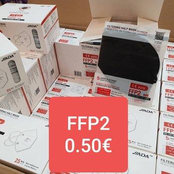 Mascarillas FFP2 blancas y negras