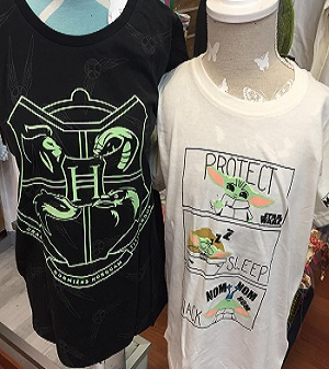 Camisetas Harry Potter y Mandalorian
