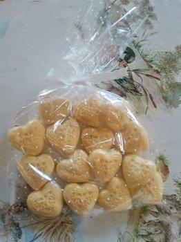 Jaboncitos de miel con forma corazón