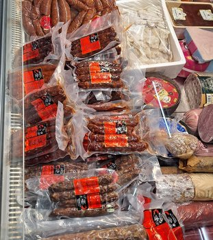 Chorizos envasados