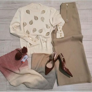 Pantalón-jersey-bufanda