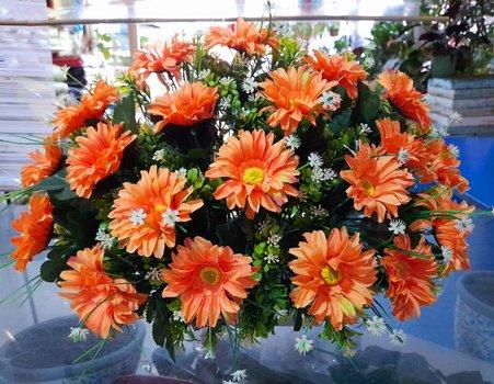 Centro flor artifica margaritas