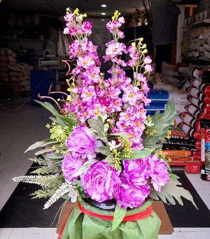 Centro flor artificial